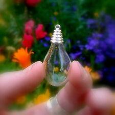 5 Glass WATER DROPS w/ cone cap (Teardrops/ tear drops/miniature vials/ bottles)
