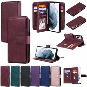 For Samsung Galaxy S20 FE A11 A71 10 Cards Slot Wallet Flip Leather Phone Case