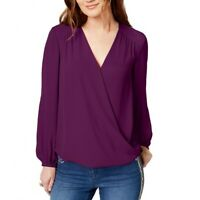 INC NEW Women's Surplice V Neck Blouse Shirt Top TEDO