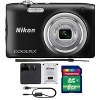 Nikon Coolpix A100 20.1MP Compact Digital Camera with Accessories (Black)