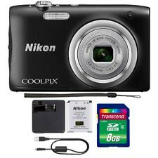 Nikon Coolpix A100 20.1MP Compact Digital Camera with Accessories (Black)