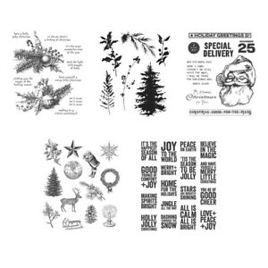 Christmas Decoration Phrase Clear Stamps Scrapbooking Paper Embossing Crafts