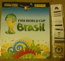 Panini WM 2014 Brasilien, Leeralbum + 160 Sticker (6 Glitzer) + Spielergebnisse