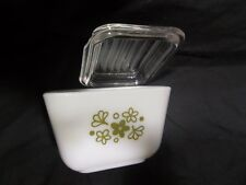 Vintage Pyrex 501-B Spring Blossom Glass Refrigerator Dish with Lid