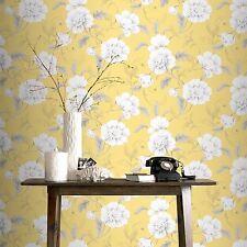 BOUTIQUE FLORAL WALLPAPER YELLOW - RASCH 226164 FLOWERS NEW