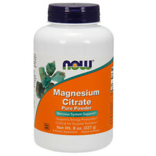 Magnesium Citrate, 100% pure Powder, 8oz (227g) - NOW Foods