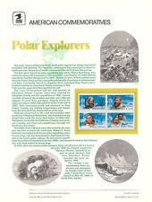 #2220-3 22c Polar Explorers USPS #267 Commemorative Stamp Panel