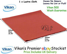 Vikan Microfibre Microfiber Lustre Cloth x 1 Red  Glass Mirrors Tiles Stainless