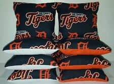 SET OF 8 ALL WEATHER DETROIT TIGERS CORNHOLE BEAN BAGS FREE SHIPPING