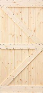 Rustikale Wandschiebetür aus Kiefer ,,Radex Rustic''