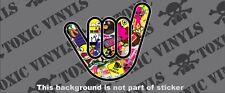 NO WORRIES HAND STICKER BOMB sticker decal vw dub euro pug jdm drift sticker