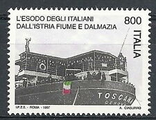 1997 ITALIA ESODO POPOLO DALMAZIA FIUME ISTRIA MNH **