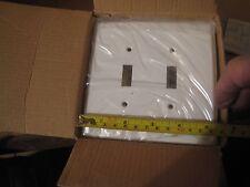 10 Hd Supply Hds # 336031 Wall Plates Jumbo 4-1/4' White Double switch