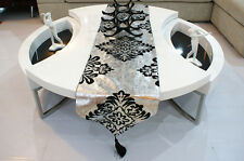 New silver black Table Runner Wedding Decoration 76""