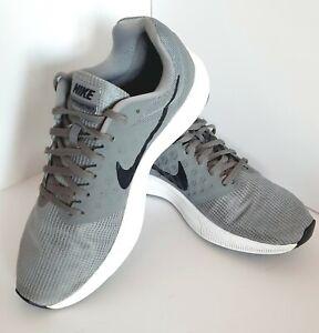 NIKE Downshifter 7 Running Trainers Training Shoe UK 8 Grey / Black 852459-009