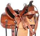 Western Horse Saddle Trail Tooled Leather Kids Roping Ranch Tack Set 12 13 14