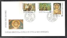 CYPRUS 1996 CHRISTMAS CHRISTIANITY VIRGIN MARY, ARCHANGELS OFFICIAL FDC