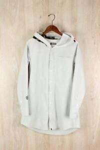 A BATHING APE Long-sleeved shirt / S / Cotton Gray Hoodie Dungaree Shark