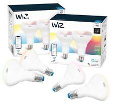 New WiZ WiFi 75 Watt BR30 900 Lumens Dimmable Smart Bulb Color 4-pack
