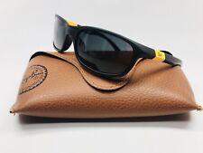 New Ray-Ban Junior RJ 9056S 195/87 Matt Black/Yellow KIDS Sunglasses 50mm w/Case