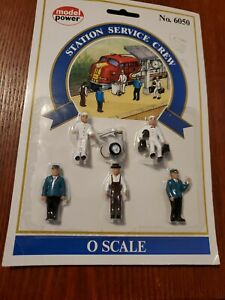 NEW! O Scale Figures Model Power #6050 Handpainted Station Service Crew People