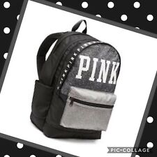 Victorias Secret VS PINK FULL SIZE GRAY MARL CAMPUS BACKPACK BOOKBAG
