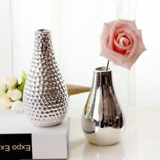 Minimalist Desk Ornaments Mirror Nordic Style Flower Vase Silver Tabletop Decors