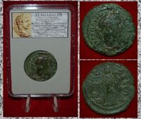 Ancient Roman Empire Coin Of Elagabalus Serapis On Reverse Large Coin!