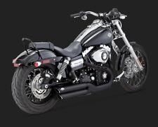 Vance & Hines TWIN ou Slip-Ons Black F. Harley-Davidson Fatbob/Wide Glide