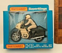 VINTAGE MATCHBOX SUPERKINGS K82 BMW MOTORCYCLE TOY DIECAST GREEN & WHITE NMIB!!!