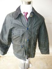 VTG! Barbour Bedale A105 GREEN Coat C36 Wax Cotton 70s/80s WELL WORN England