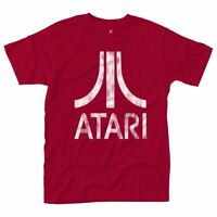 Men's Atari Logo Bold Red T-Shirt - Retro Gaming Merch Sizes S-XXL