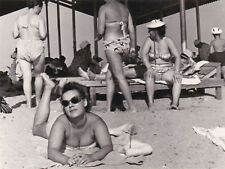 1960 Sexy Nude women girls in swimsuits on the beach old Russian Soviet photo