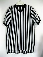 REFEREE Jersey Shirt Men's 2XL Black White Short Sleeve V Neck Sports