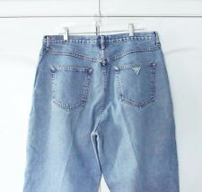 Vintage Guess Jeans USA Blue Denim 80's High Waisted Ankle Jeans Size 40