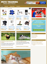 Pets Training Website Affiliate Information Site For Sale Free Installation