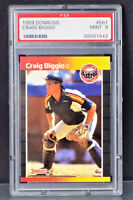 1989 DONRUSS  #561 CRAIG BIGGIO  R.C. PSA MINT 9  HUSTON ASTROS FUTURE  HOF