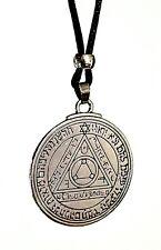 Occulte Sixième Pentacle De Soleil Talisman Subterfuge Perle Cordon Collier