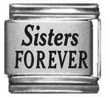 Clearly Charming Sisters Forever Laser Italian Charm