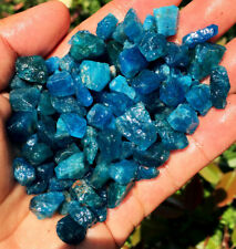 100g 60PC TOP!! Natural Blue Green Apatite Crystal Stone  Gravel Specimen LH007