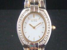 Citizen Eco-Drive women's watch Two-tone with Genuine diamonds on bezel