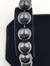 """Shamballa Beaded  Adjustable Bracelet Shiny  Hematite Elastic 7"""" - 8.5"""" inches"""