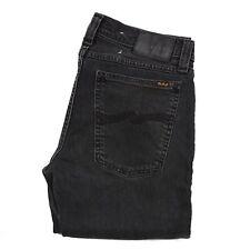 Nudie Jeans para Dama Mujer Talla W30 L32 Angostas Botas Negro Gris Italia