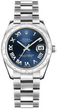 Rolex Datejust 31 Blue Roman Numeral Dial Oyster Bracelet Watch Ref. 178344