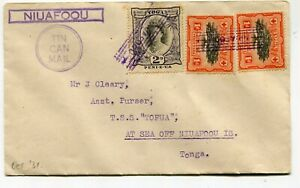 Tonga Tin Can Mail Niuafoou locally used cover - see scans