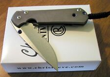 CHRIS REEVE New Large Sebenza 21 Part Serrated S35VN Blade Knife/Knives