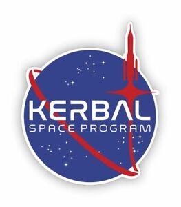 Sticker plastifié KERBAL SPACE PROGRAM KSP - 9cm x 7,5cm