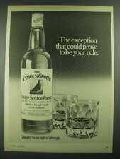 1980 The Famous Grouse Scotch Ad - The Exception