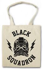 BLACK SQUADRON Hipster BAG-BORSA TESSUTO STOFFA sacchetto-TIE FIGHTER STAR WARS NEW