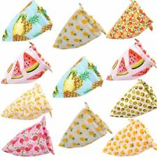 50pcs Dog Bandana Watermelon Scarf Summer Cotton Fruit Pet Grooming Accessories